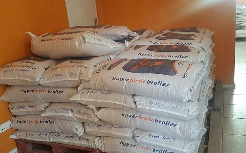 A poultry feed manufacturer financed by ZADT to supply smallholder farmers with feed for poultry production,